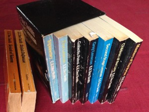 "Box set of E.E. ""Doc"" Smith's ""Lensman"" series, plus bonus two from his ""Skylark"" series."
